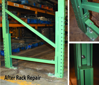 Upright Rack Damage Repair Services For Storage Systems