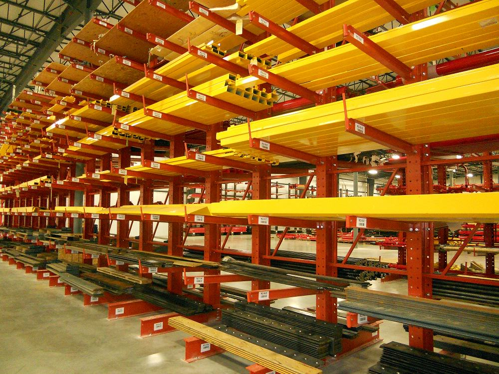 warehouse structural cantilever rack