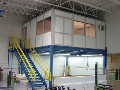 mezzanine modular office