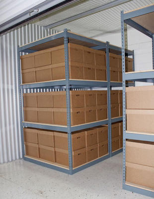 Self Storage Space With Product In It