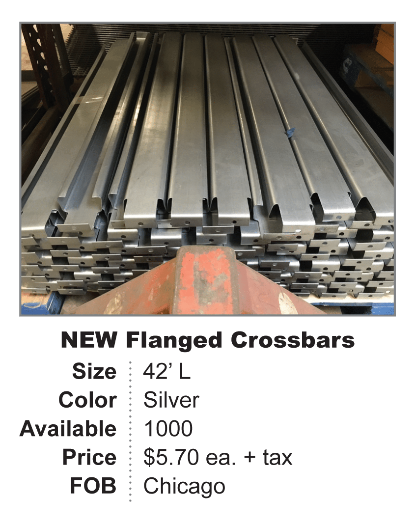 NEW flanged crossbar