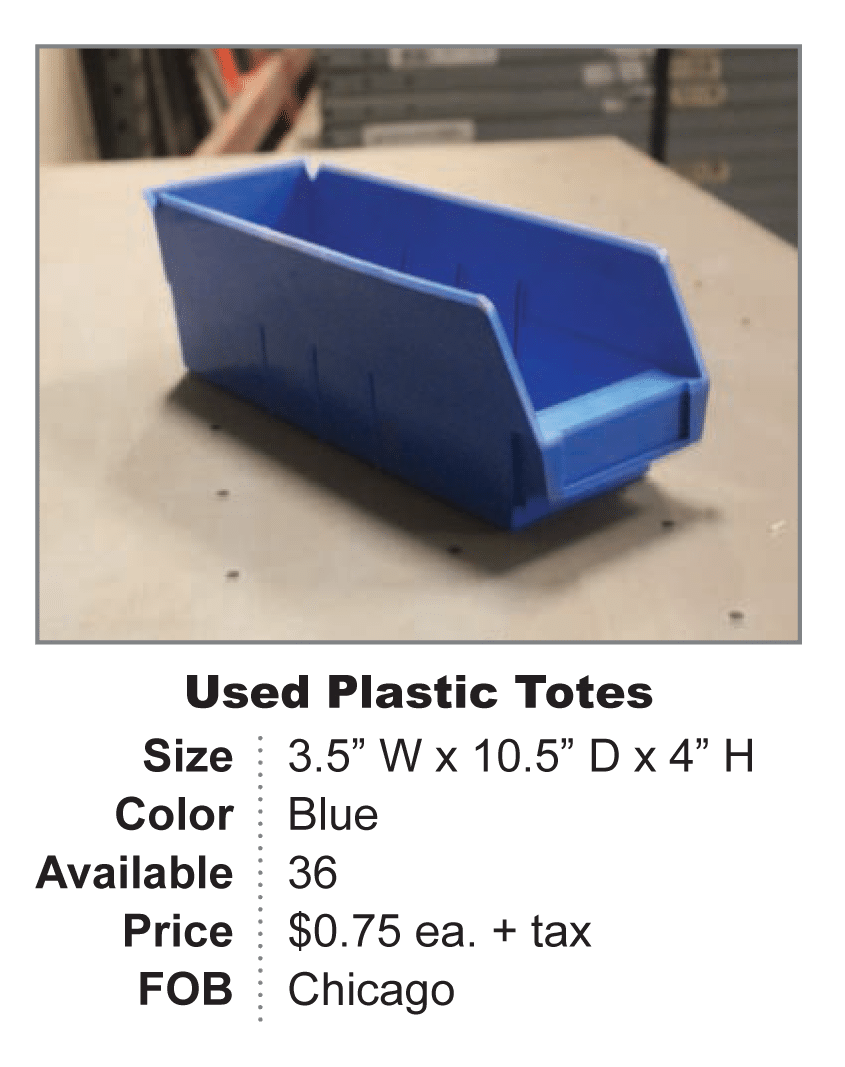 Used Plastic Tote