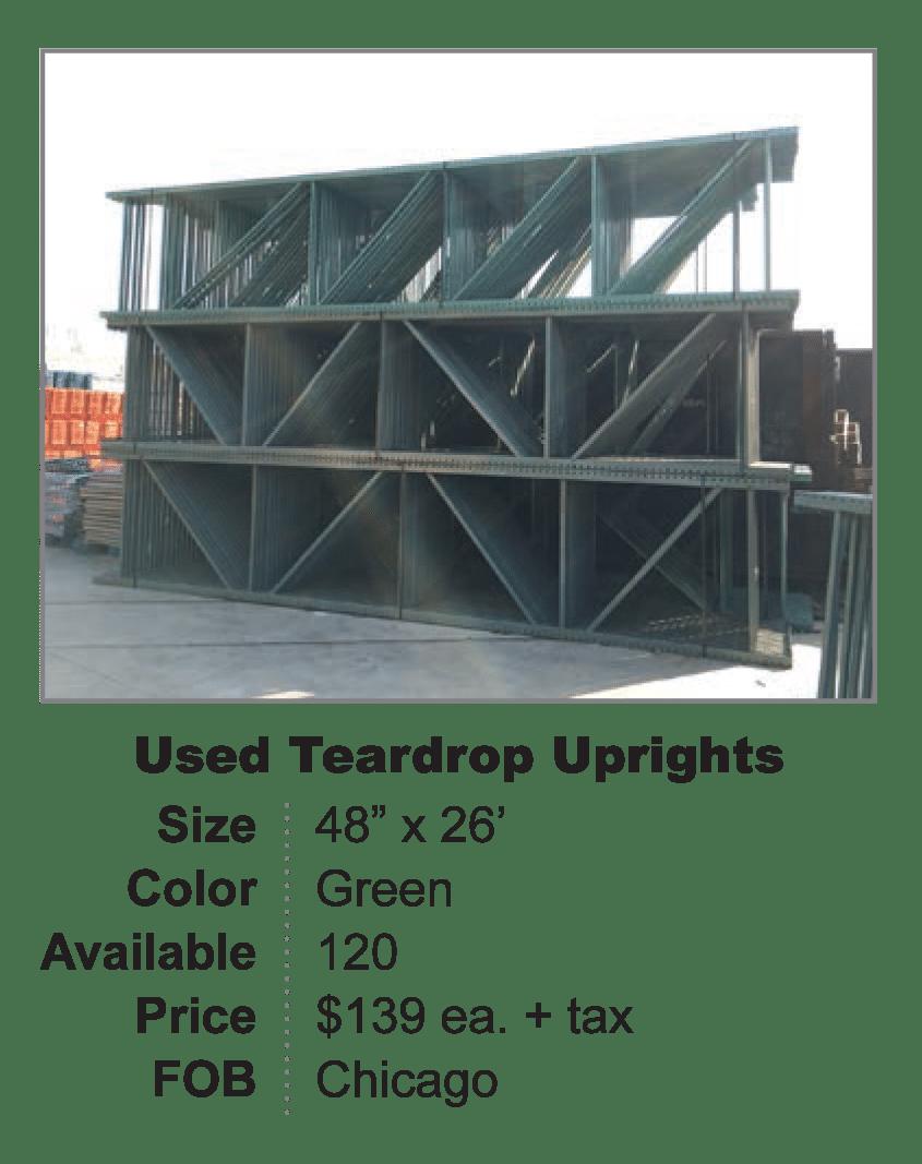 Used Teardrop Uprights