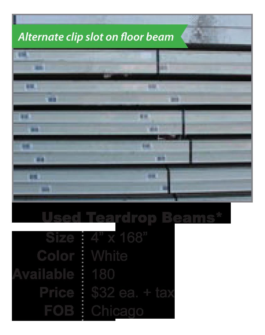 Used Teardrop Beam