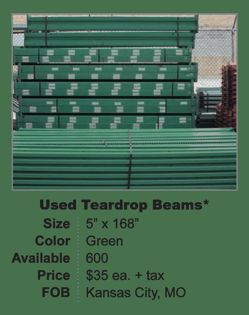 Used Teardrop Beams