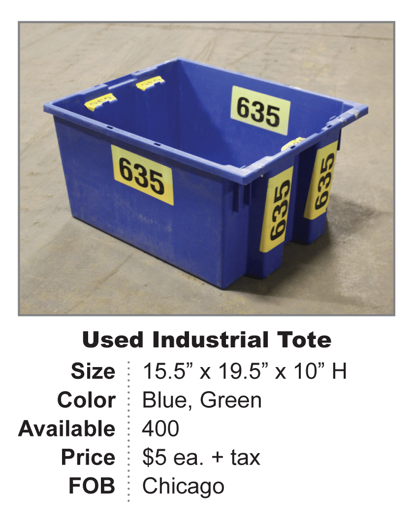 used industrial tote