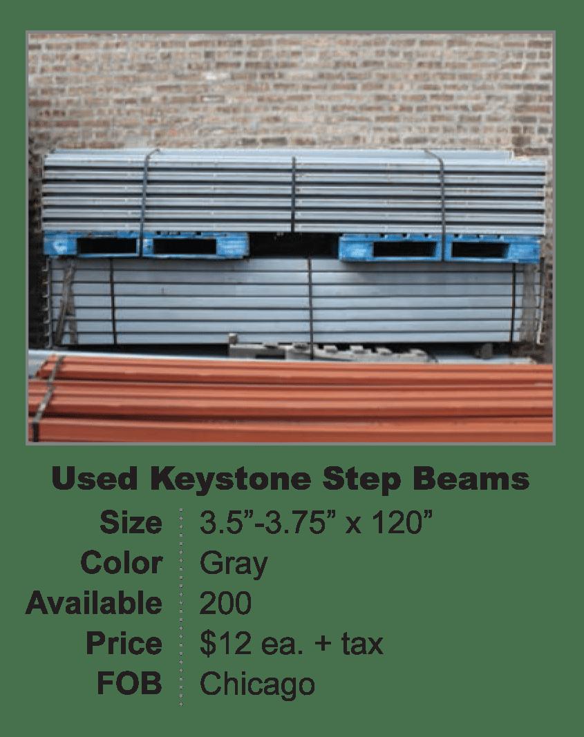 Used Keystone Step Beam