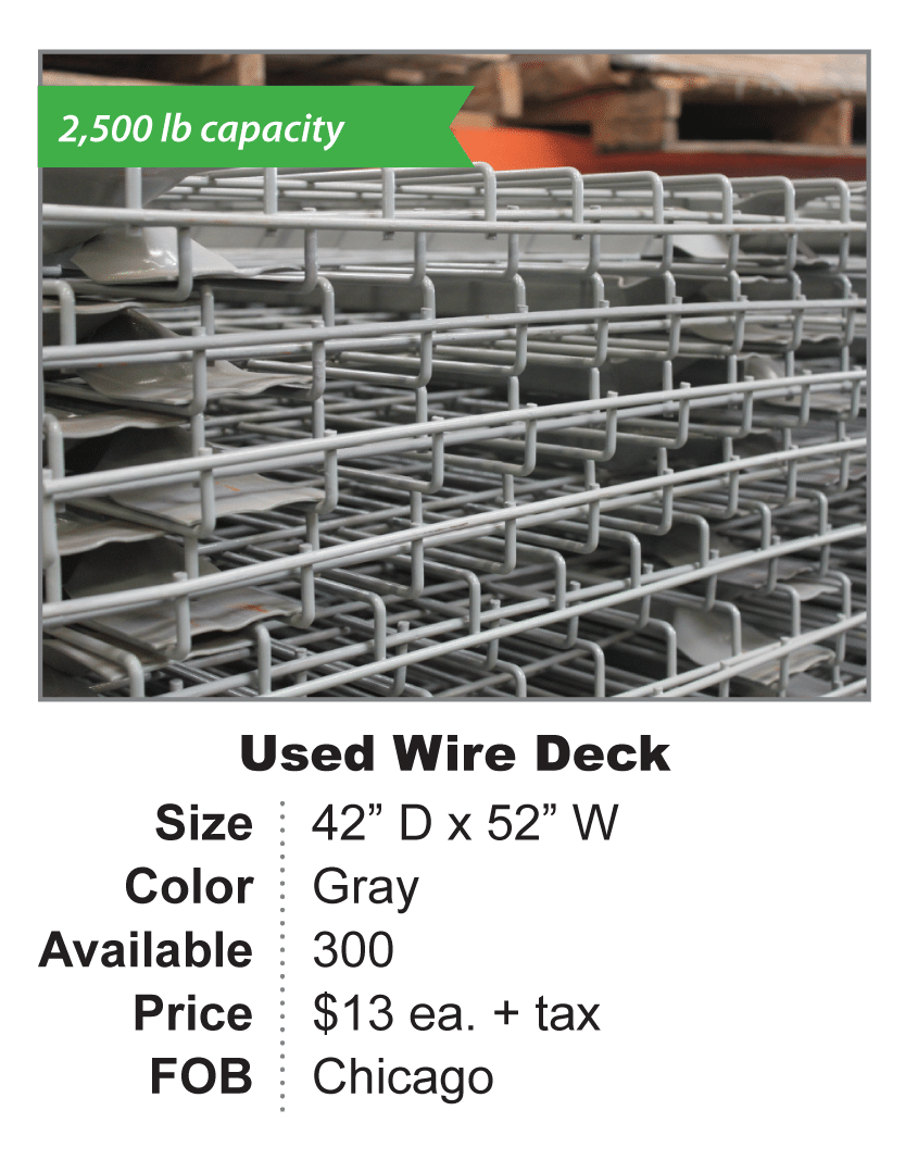 Used Wire Deck 42 x 52