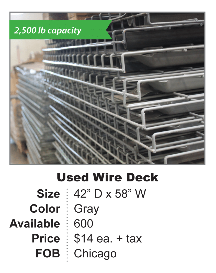 Used Wire Deck 42 x 58