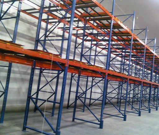 warehouse push back rack