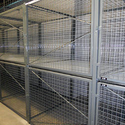 division 10 wire mesh partitions and wire mesh lockers