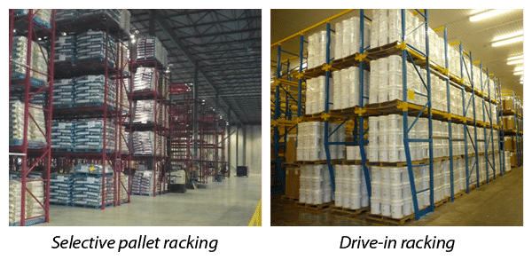Selective pallet racking & Drive-in racking