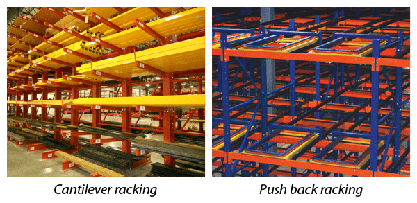 Cantilever racking & Push back racking