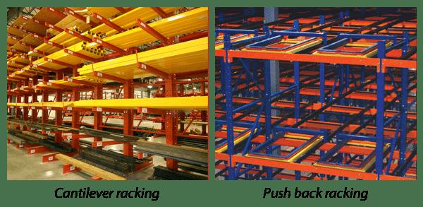 Cantilever racking & Push back racking