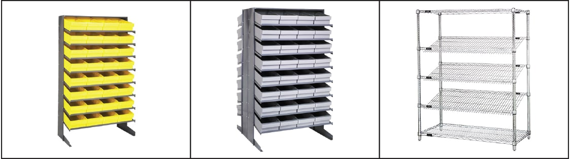 Gravity shelving top photo