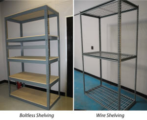 Boltless and Wire Industrial Shelving