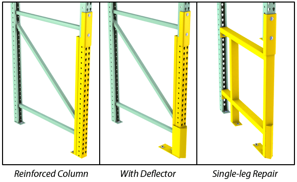 Rack Repair Options with a Pallet Rack Repair Kit