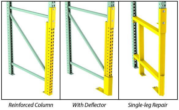 Rack Repair Options with a Pallet Rack Repair Kit