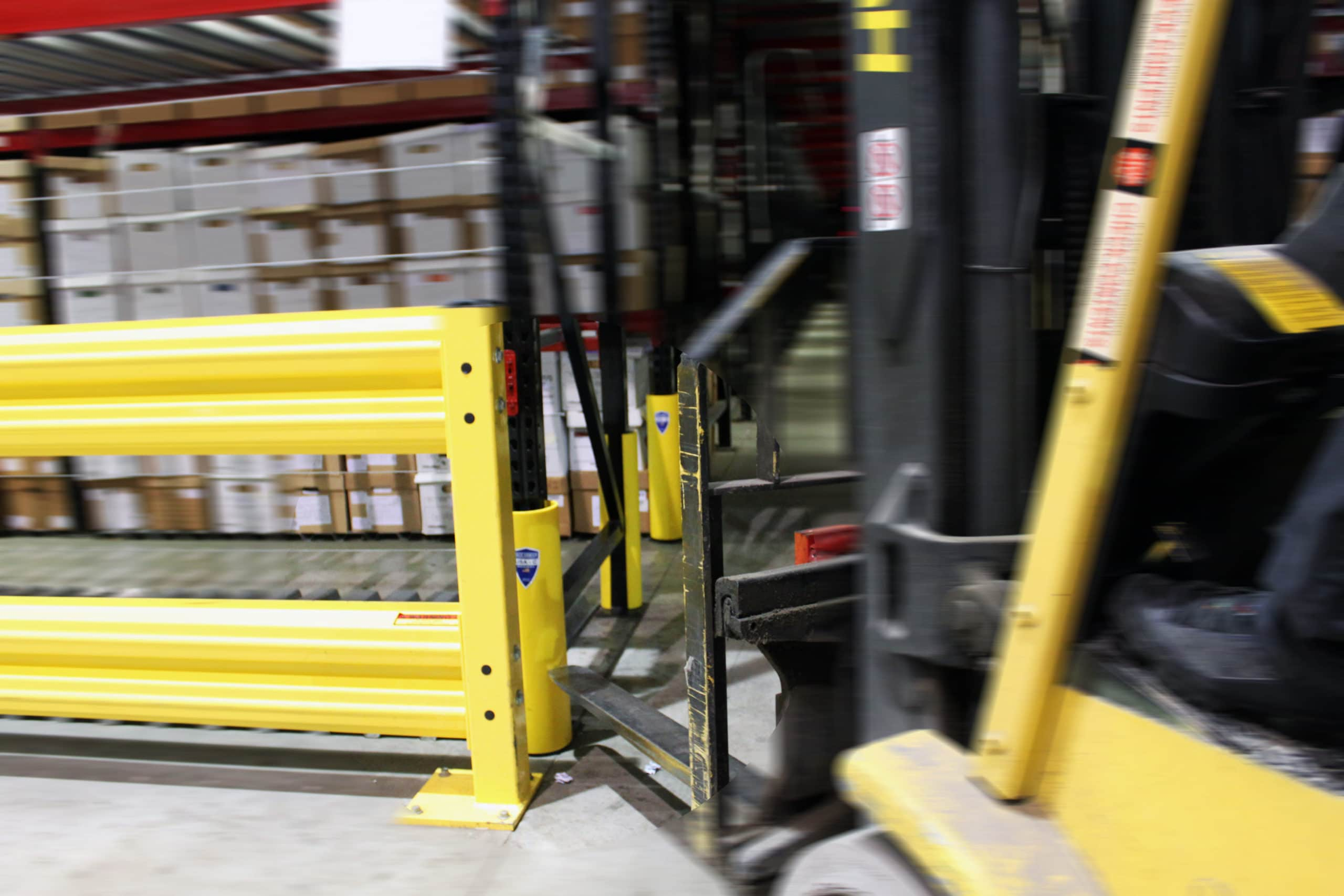 Warehouse racking protection