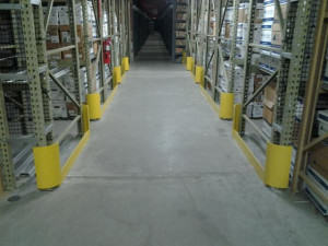 One final style of warehouse rack protectors to consider is end-of-row protectors. Protection should be present at all row ends to keep equipment from running directly into frames. End-of-row protectors cover the exposed end of the racking, helping to prevent costly damage.