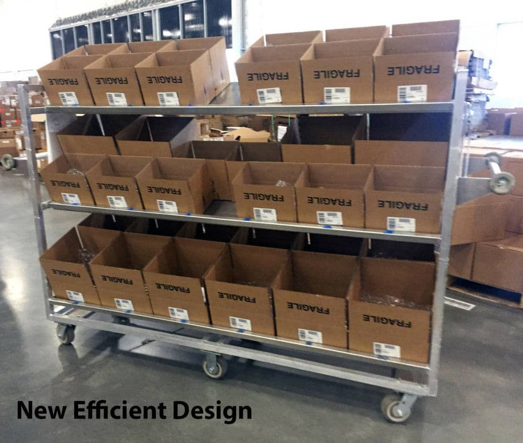 warehouse picking carts