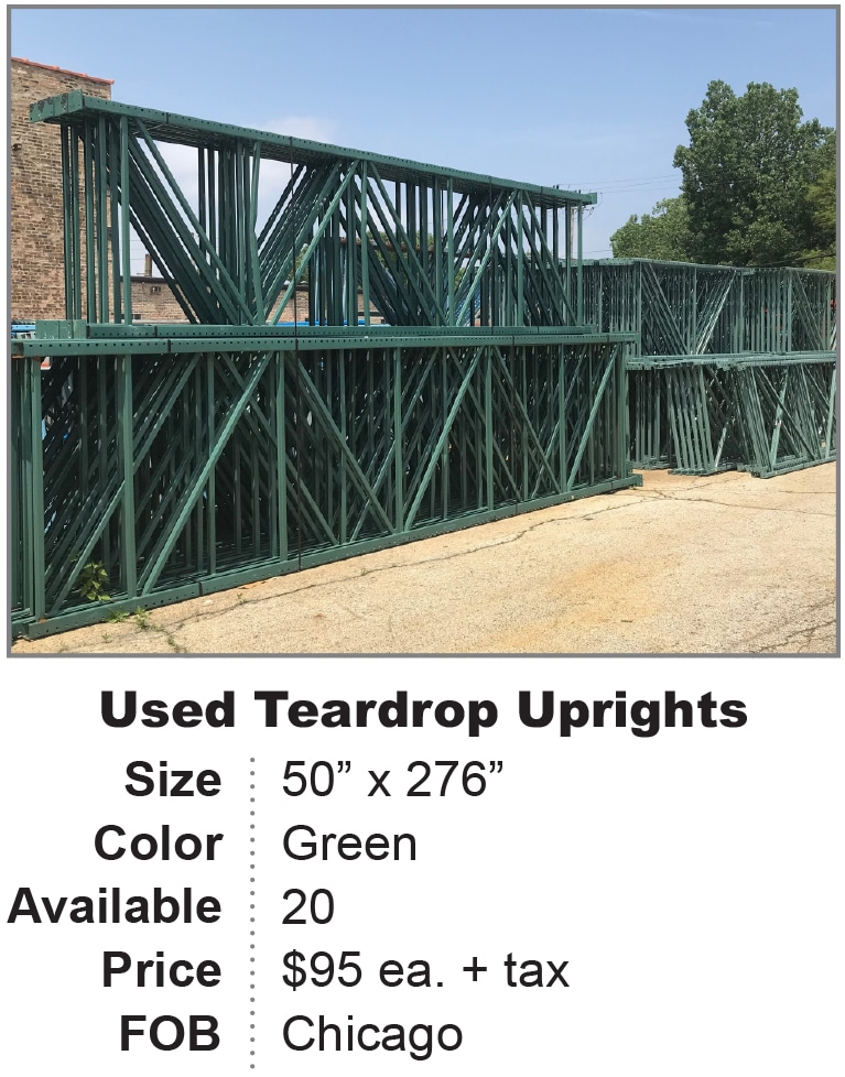 Used Pallet Rack, Shelving, Decking, and Equipment   REB