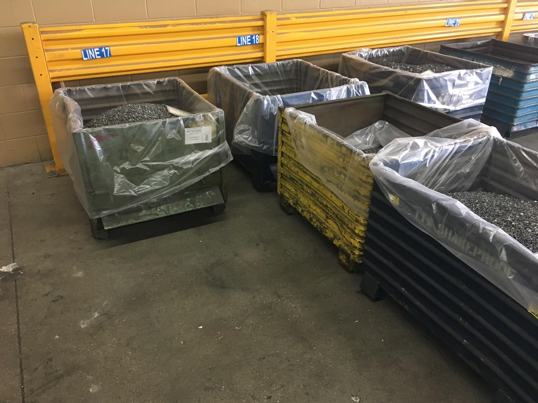 Bins Stored on Floor
