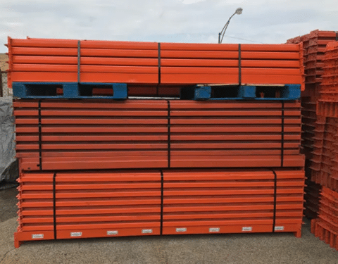 Used Pallet Rack Teardrop Beams 3X92
