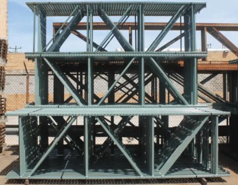 Used Pallet Rack Teardrop Uprights 42X120
