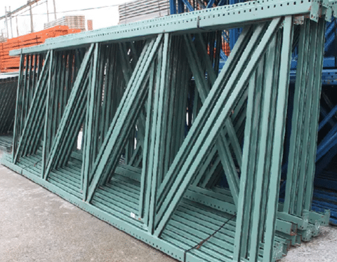 Used Pallet Rack Teardrop Uprights 60X240