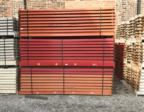 Used Pallet Rack Teardrop Beams 3.25X48