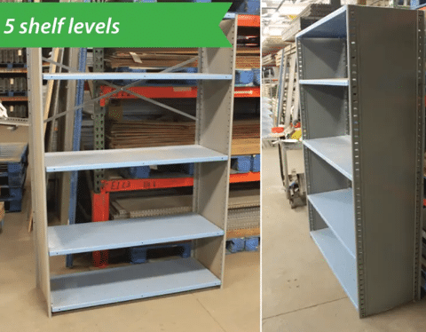 Used Steel Shelving 48WX18DX72H