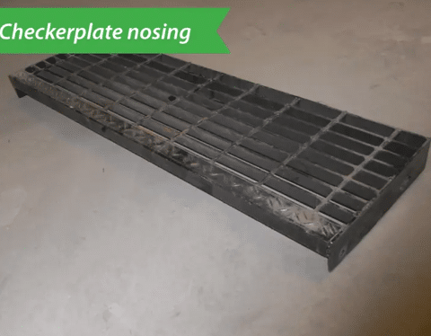 Used Bar Grating Stair Threads 11X36.1X3/16 bars