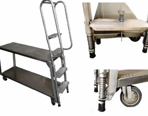 Rol-Away 4-Step Ladder Cart 250 LB Per Shelf