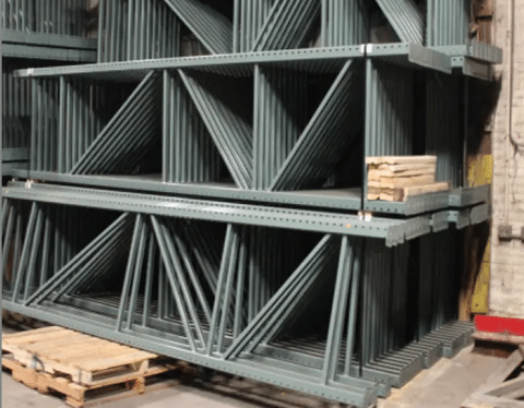 NEW Pallet Rack Teardrop Uprights 42X240