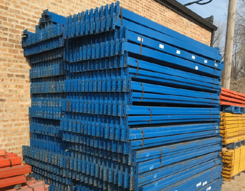 Used Pallet Rack Teardrop Beams 3.5X42