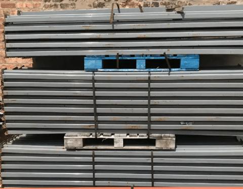 Used Pallet Rack Teardrop Beams 3.5X120