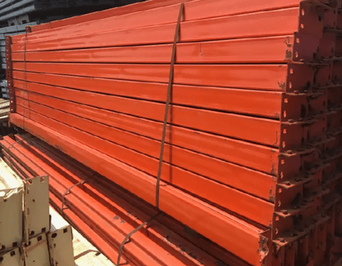 Used Pallet Rack Teardrop Beams 4X96