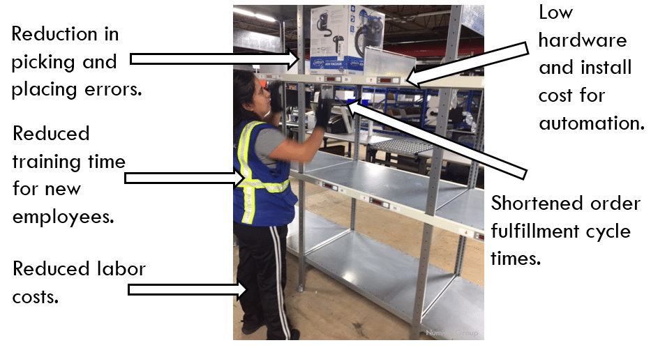 advantages of pick-to-light systems and put-to-light systems